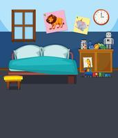 Een slaapkamer interieur sjabloon