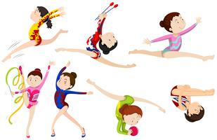 Different types of gymnastics vector