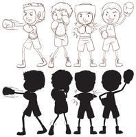 Set of boxer character