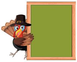Turkey with empty frame vector
