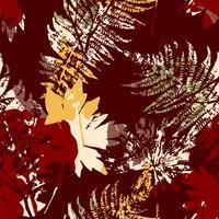 Modelo inconsútil abstracto con las hojas. Vector