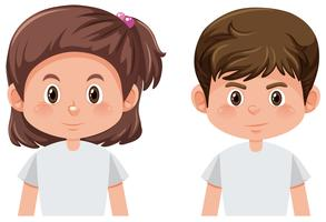 Boy and girl character