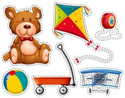 Sticker set with many toys