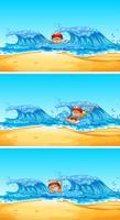 Un hombre nadando en el océano