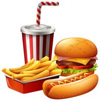 Mahlzeit von Fast Food