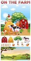 Animales de granja que viven en la granja.