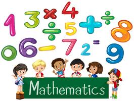 Colored numbers and children Mathematics