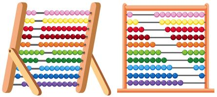 A Colourful Abacus on White Background vector