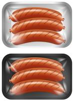 A Set of Sausage vector