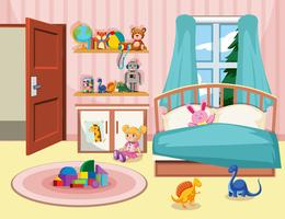 A kid bedroom background vector