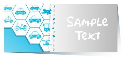 Modèle de carte avec différents transports