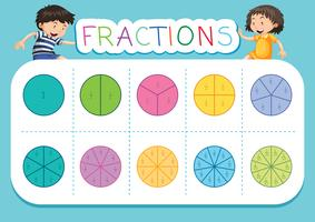 A math fractions worksheet