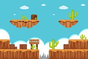 A Game Template Desert Scene vector