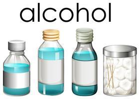 Eine Reihe von medizinischem Alkohol