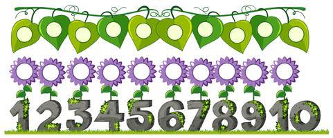 Un ensemble de nombre avec fleur