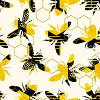 Patrón geométrico inconsútil con la abeja