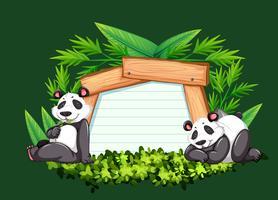 Modelo de fronteira com dois pandas