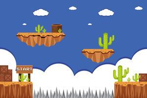 Um modelo de jogo do deserto no ponto de partida