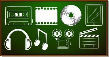 Pictogram ontwerp met entertainment-objecten