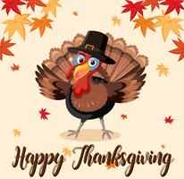 Happy thanksgiving turkey template vector