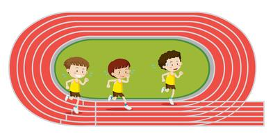 Boys Training Running Race