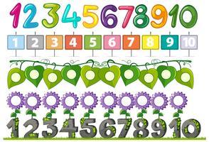 Een set van nummer lettertype