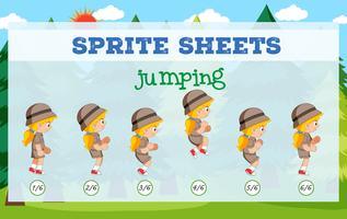 Sprite sheet girl jumping