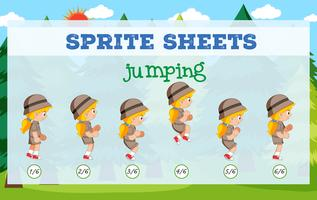 Sprite sheet girl jumping
