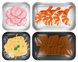 A set of delicious food vector