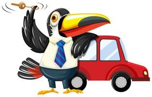 Toucan spinning carkey av bilen