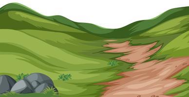 Vector de paisaje de colina de naturaleza