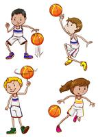Energetic basketball players
