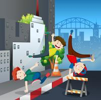 bboy straatdansgevecht in de stad
