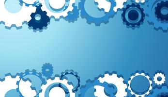 Engineering Gears Wallpaper in blauw