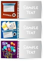 Businesscard template with business items