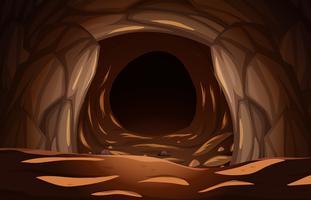 Uma caverna de pedra escura