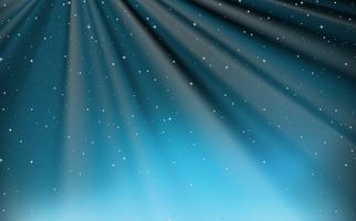 Background design with stars and blue light