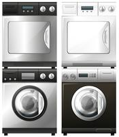 Washing and drying machines vector