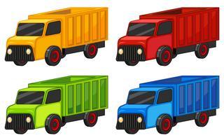 Lastbilar i fyra färger