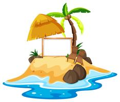 Board template with island in the sea