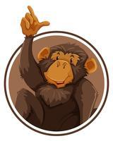 Affe im Kreis Banner