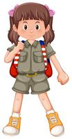 A cute girl scout character