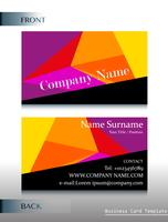 A front and back template of a business card