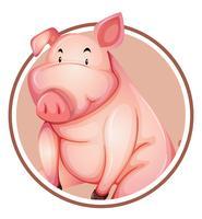 Un modèle d'autocollant de cochon