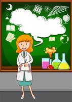 Science teacher teaching at school