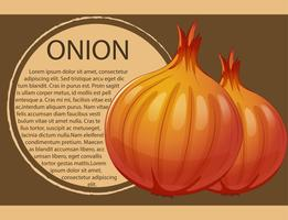 Infographic design with fresh onions