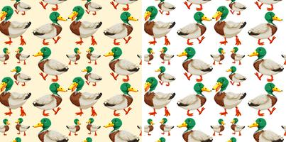 Seamless background design with ducks