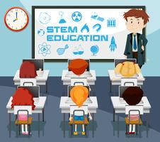 Stem education classroom scene