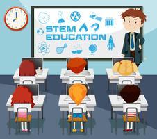Klassenzimmer-Szene für den Stamm