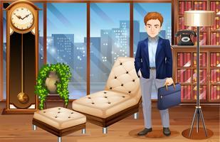 Businessman standing in luxury office